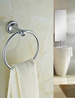 Elegant Silver Crystal Brass Towel Ring