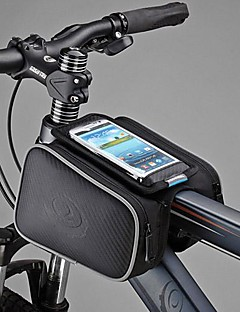 Bike Bag 1.8LBike Frame Bag / Cell Phone Bag Dust Proof / Touch Screen Bicycle Bag PU Leather / Polyester / PVC Cycle BagSamsung Galaxy