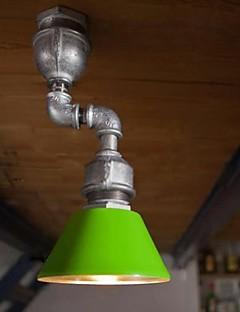 Vintage pipe design Spot Light, une lumière avec une ampoule Led, fer à repasser peinture.