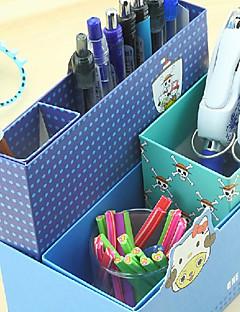 Creative Design papir multi-funktion opbevaringsboks (tilfældig farve)