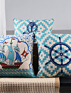 Lot de 3 élégant Lumière Voile frais sur les couvertures mer coussin décoratif