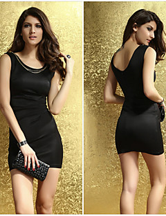 Hot Polyester Sexy Nightclub with chain Women Mini Dresses