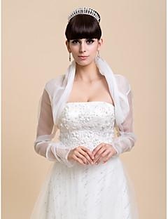 Wedding / Party/Evening / Casual Organza Coats/Jackets Long Sleeve Wedding  Wraps