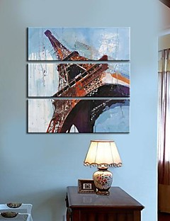 Stretched Canvas Art Landscape Eiffel Tower Set of 3