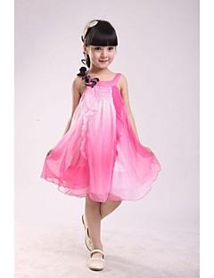Girl's Solid Dress,Chiffon / Cotton Blend Summer Blue / Pink