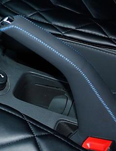 XuJi ™ Black Genuine Leather Handbrake Cover for Chevrolet Cruze
