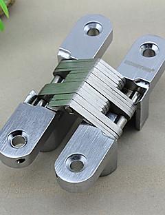 Classic Silver Solid Satin Cross Shape Folding dørhengselen