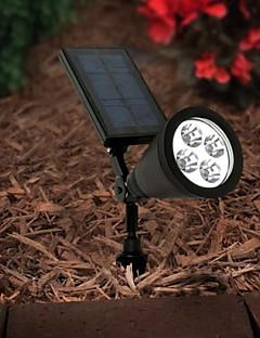 4-LED Outdoor Solar Power Spotlight Landskap Spot Light Gräsmatta Flood lampa
