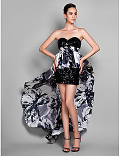 TS Couture® Cocktail Party / Holiday / Prom Dress - Print Plus Sizes / Petite Sheath/Column Sweetheart Short/Mini Stretch Satin