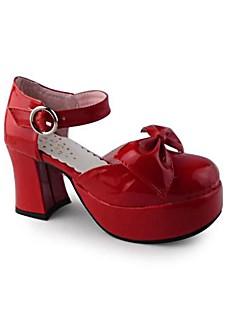Handmade Cute Bow 8cm High Heel Sweet Lolita Shoes