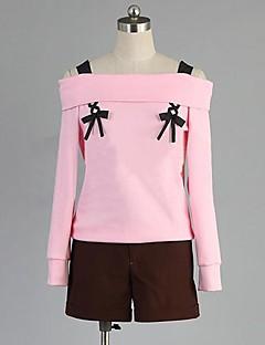 Inspirerad av Diabolik Lovers Yui anime Cosplay dräkter cosplay Suits Lappverk Rosa Lång ärm Topp / Shorts