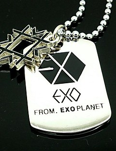 EXO XIUMIN Snowflake Alloy Necklace
