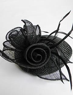 British Style Hør Ladies Særlige lejligheder / Kausale / bryllup / Party Hats med blomster (flere farver)