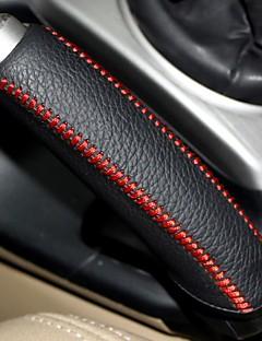 XuJi ™ Black Genuine Leather Handbrake Cover for Honda Civic 2004-2011