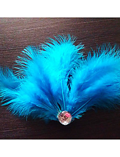 Dance Accessories Headpieces Women's / Children's Training Feathers Feathers /Fur Black / Blue / Green / Purple / White / Yellow / Peach