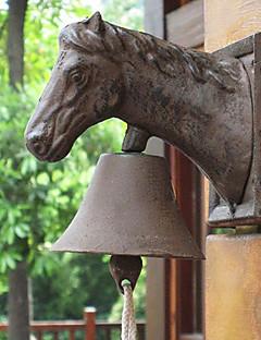 European Retro Rustikk The Horse Head Of Smijern Plain Door Bell