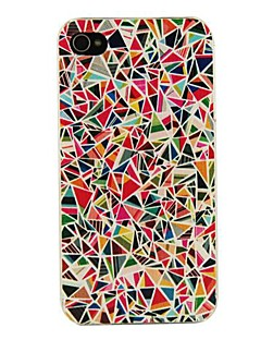 cassa del pc duro modello multicolore geometria per il iphone 4 / 4s