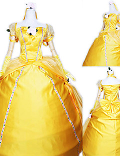 Cosplay Costumes / Party Costume Princess Festival/Holiday Halloween Costumes Yellow Solid Dress / Gloves Halloween / Carnival Female