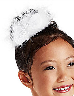 Dance Accessories Headpieces Children's Training Satin / Feathers Crystals/Rhinestones