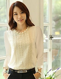 Songyi kvindernes chiffon langærmet skjorte