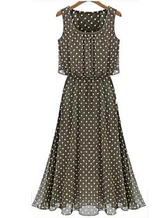 a-line sleeveless Chiffon-Kleid Fenja Frauen