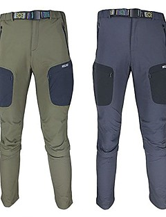 Arsuxeo Men's Polyester  Quick Dry Pants(2 in 1) for Hiking Cycling Free Belt