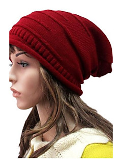 Damer Casual Vinter Beanie Strik
