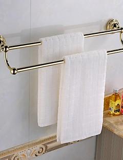 Antique Ti-finition PVD Laiton Matériau deux barres porte-serviettes