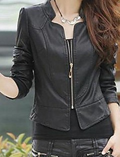 Women's Cultivate One's Morality  Leather Jackets
