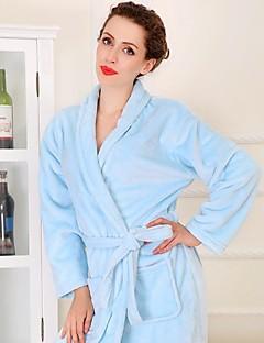 Badekåbe Blå,Solid Høj kvalitet 100% Koral Fleece Håndklæde