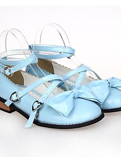 PU Leather 2.5CM Flatl Sweet Lolita Shoes with Row