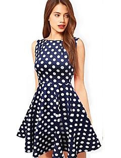 para kvinners prikker sleeveless pettiskirt kjole