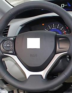 Xuji ™ cubierta de la rueda de dirección de cuero negro genuino para Honda Civic 2012 2013 2014 cívica 9