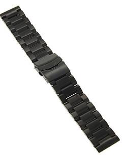 22mm magas minőségű fekete / arany pontos rozsdamentes acél watchband