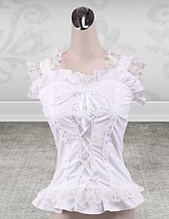ærmeløs hvid bomuld klassiske Lolita korset