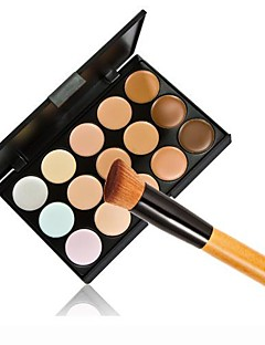 1PCS Cosmetic Makeup Face Powder Foundation Brush & 15 Color Concealer