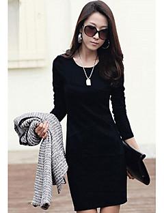 Mode Kontrastfarbe Kleid m.xiu Frauen