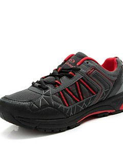 ユニセックス黒+赤超軽量の滑り止めカジュアルサイクリングシューズtiebao