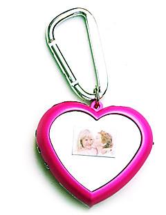 CYBER.GEAR  Mini 1.5 Inch Heart-Shaped Digital Photo Frame with Key Ring