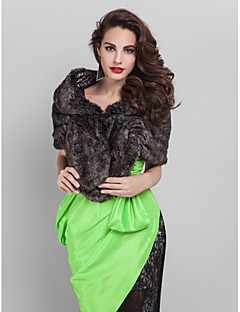 Faux Fur Casual/Special Occasion Shawl