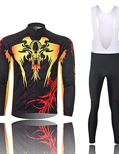 XINTOWN® Cycling Jersey with Bib Tights Men's Long Sleeve BikeBreathable / Thermal / Warm / Quick Dry / Windproof / Moisture Permeability