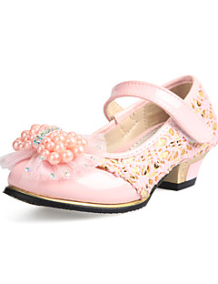 Synthetic Girls' Low Heel Mary Jane Pumps with Bowknot Imitation Pearl Shoes(More Colors)