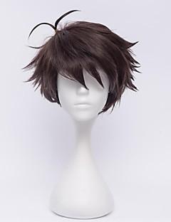 Cosplay Wigs Haikyuu Oikawa Tooru Brown Short Anime Cosplay Wigs 30 CM Heat Resistant Fiber Male