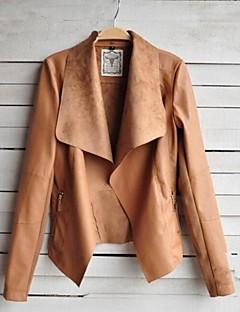 Women's New Fashion PU Leather Short Jacket Outwear