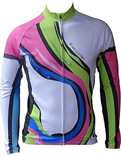 Realtoo® Women's Autumn And Winter Fleeced Thermal Long Sleeve Cycling Jersey