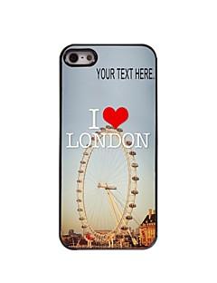 personlig fallet london designen metallhölje för iphone 5 / 5s