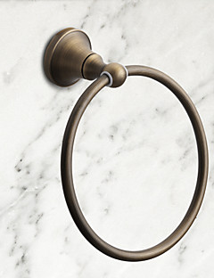 "Towel Ring Antique Brass Wall Mounted 175 x 75mm (6.89 x 2.95"") Brass Antique"