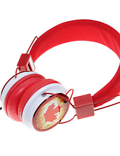WZS- Ergonomic Hi-Fi Stereo Headphone with Mic Microphone-Canada-Red