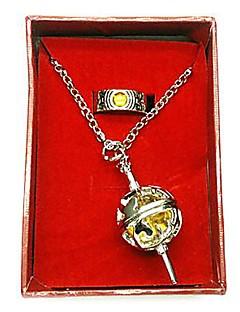 Puella magi Madoka Magica Tomoe Mami cosplay příslušenství (kroužek&náhrdelník)