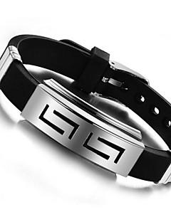 Pánské ID Náramky Jedinečný design Přizpůsobeno bižuterie Silikon Titanová ocel Šperky Šperky Pro Denní Ležérní Vánoční dárky